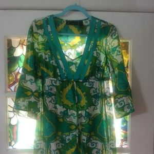 INC*** 2-Pc GREEN DRESS SET 6 Small